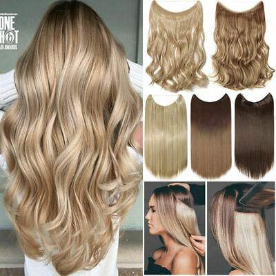 Thick Long Body Wave Secret Invisible Wire Human Remy Halo Hair Extension 100g