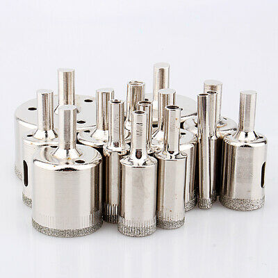 15pcs/Set 6mm-50mm Diamond Tool Drill Bit Hole Saw Set For Glass Ceramic Marble