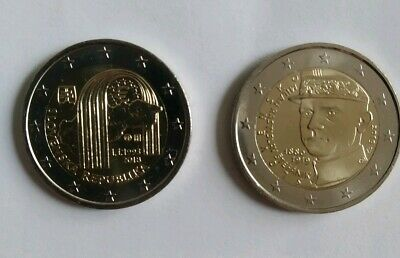 LOT 2 PIECES x 2 EURO €  NEUVES UNC  SLOVAQUIE 2018 2019