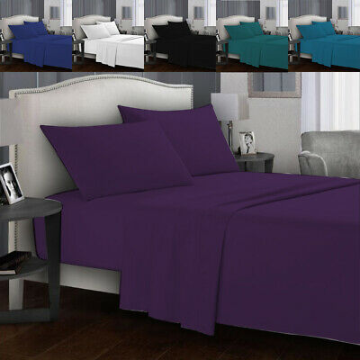 Ultra SOFT - 3 Pcs Fitted Sheet Set(No Flat)/ Queen King Size Bedding Set New AU