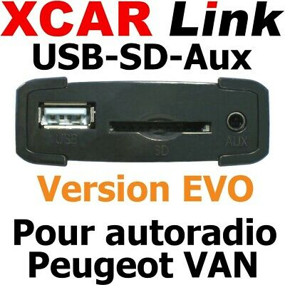 XCARLink USB-SD EVO PEUGEOT VAN 206,307Phase 1, 406 ap 2000, 607 Phase 1