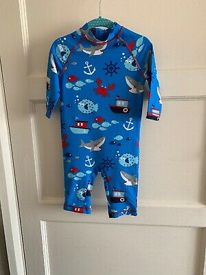 Baby Boys Marks And Spencer M&S  Beach Suit Swimsuit Swim Wear 18-24 All In One