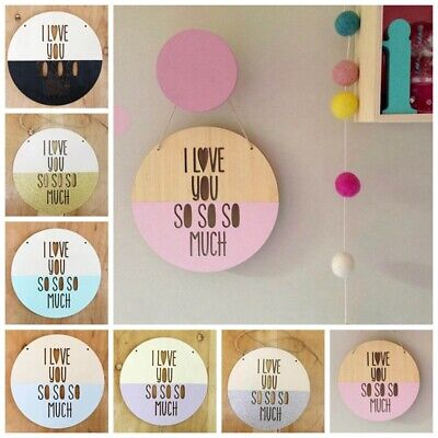 INS Hanging Round Wooden Beads Wall Decorations Baby Kids Room Decoration Decor