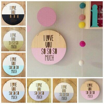 Nordic Round Wooden Chip Wall Hanging Ornaments Kids Room Home Decor Prop Pour