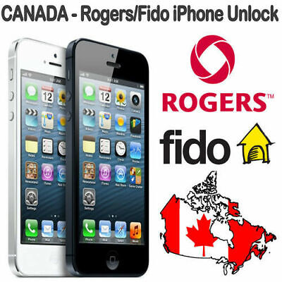 Factory Unlock Canada Rogers/Fido iPhone 4/S/5/S/5C/SE/6/S/7/7+/8/8+ 1 to 24 hr