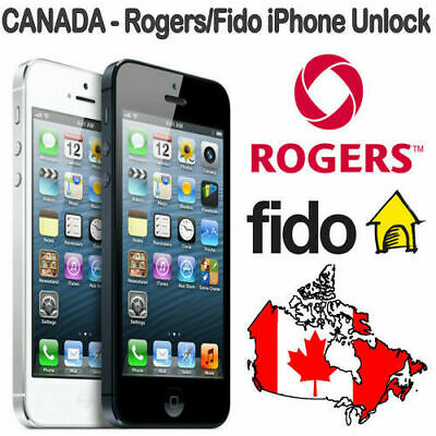 ROGERS FIDO CANADA OFFICIAL UNLOCK SERVICE iPhone 4s 5 5s 5c 6 6+ 6s 6s+ SE 7 7+