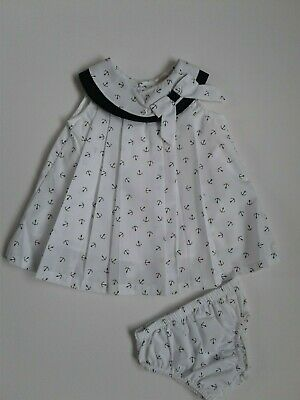 Baby girls clothes sailor dress pants set 6 months