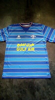 Retro Le coq sportif, Gulf Air Chelsea Shirt, With Kerry Dixon No.9 on back