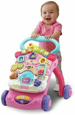 VTech First Steps Baby Walker Activity Pink - 6 Months Easy Assemble and Store