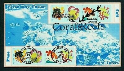Coral Reefs - Postcard Issues - SC# 5363 - 5366, 5367 - 5370 - 2019 FDC