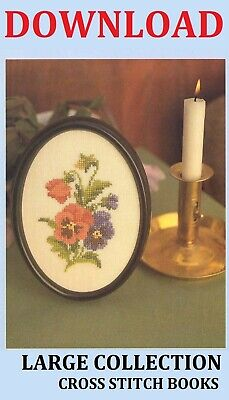 Large Collection Of Cross Stitch Books Download Patterns Flowers