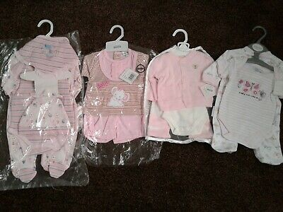 Bundle of newborn baby girls clothes size newborn BNWT