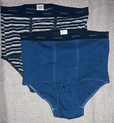 59652b017b71 RARE 2 Pairs NOS VTG Men's JOCKEY POUCH Horizontal Fly Brief Underwear XL  40-42