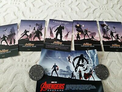 Marvel Avengers Infinity War A4 Poster Odeon Exclusive whole set plus endgame x1