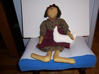 """Primitive Doll carrying her Chicken  20"""""""