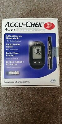 Accu-Chek Aviva Glucose Meter and Lancing Device No Strips. Seller Warranty