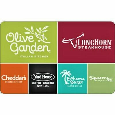 $10 Olive Garden Physical Gift Card - FREE Standard Mail Delivery. Brand New!!!