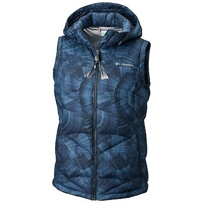 Columbia Pike Lake Hooded Vest XL Sleeveless Puffer Jacket Coat Reflective NWT
