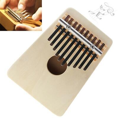 10 Key Kalimba Single Board Wooden Thumb Piano Mbira Keyboard Instrument Kids