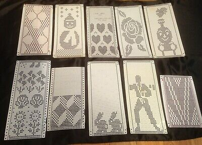 Brother Knitting Machine Pre-Punched Pattern Cards X 10