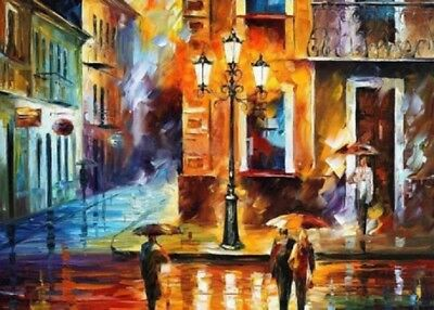 Modern Large Abstract Hand-Painted Art Wall Oil Painting on Canvas #213 No Frame