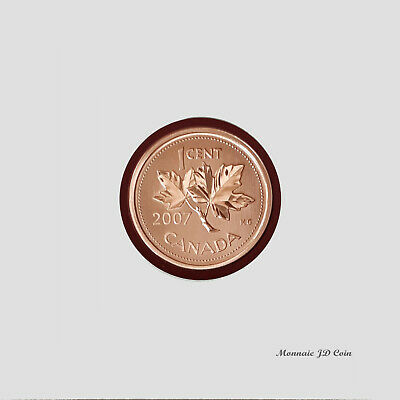 2007  Canada 1 Cent Specimen Magnetic Coin From Set