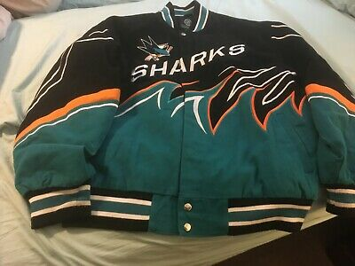 Mens San Jose Sharks Vintage NHL Gill Sports Carl Banks Size Large