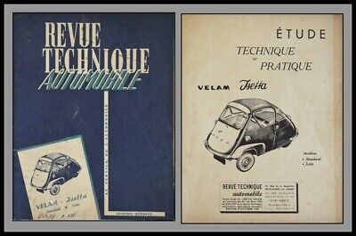 Revue Technique Automobile - Velam Isetta - N°150 - 1958