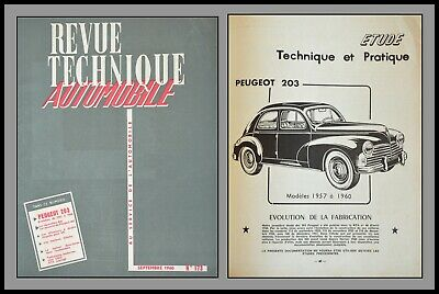 Revue Technique Automobile - Peugeot 203 - N°173 _ 1960