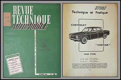 Revue Technique Automobile - Chevrolet Corvair - N°178 - 1961
