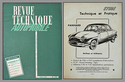 Revue Technique Automobile - Panhard Pl 17 - N°172 - 1960