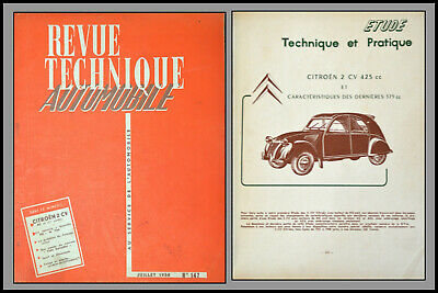 Revue Technique Automobile - Citroen 2Cv - N°147 - 1958