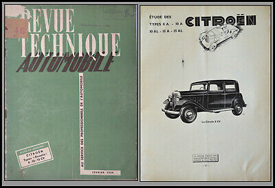 "Revue Technique Automobile - Citroen ""Rosalie"" - N°46 - 1950"