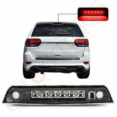 For 2005-2010 Jeep Grand Cherokee Chrome Third 3RD Brake Led Tail Light Lamp