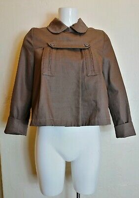 CHLOE Cocoa Brown Swing Coat Jacket 14 Years Or Women XS