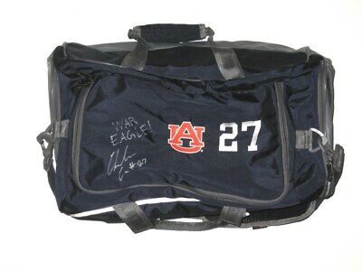 Chandler Cox Player Issued & Signed Auburn Tigers #27 Under Armour Duffle Bag