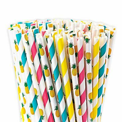 """Biodegradable Paper Drinking Straws - 300 Bulk Eco Friendly """" Durable Suitable"""