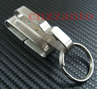 Stainless steel Quick release Detachable Key chain Belt Clip ring holder KC173B