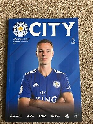 Leicester City LCFC v Man United Football Programme - 03 Feb 2019 Premier League