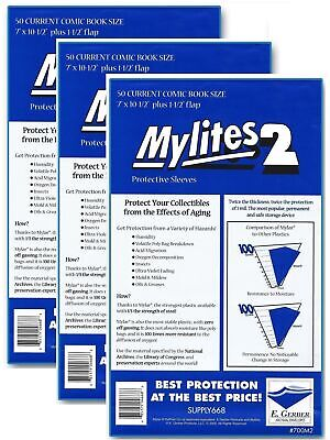 150 Mylites2 CURRENT (Modern) 2 mil Mylar Comic Sleeve Bags  by E. Gerber 700M2