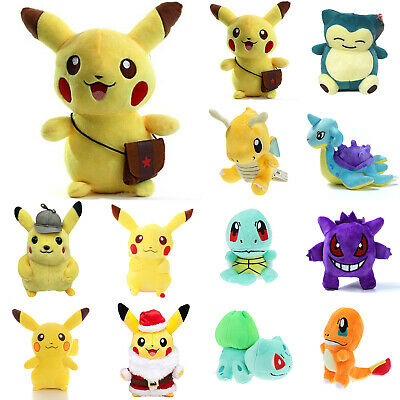 Pokémon Detective Pikachu Moive Kawaii Plush Soft Stuffed Fluffy Kids Dolls Toys