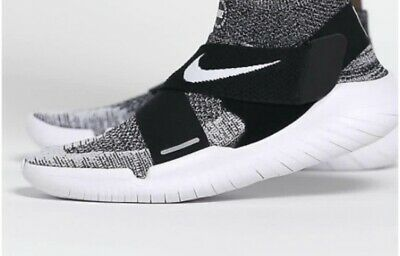"Nike Free RN Motion Flyknit 2018 Black White ""OREO"" 942840-001 Running Shoes NEW"