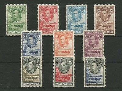Bechuanaland 1938 George Vi Short Mixed Mint And Used Set To 5/-