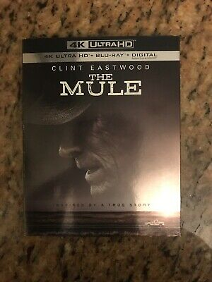 The Mule (4K Ultra HD + Blu-ray 2019) with Slipcover!! NO DIGITAL