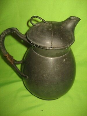 Antique Pewter ' Cosy ' Pattern Teapot Made by W H Haseler  Birmingham