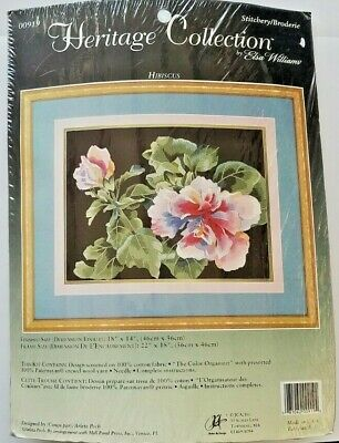 Elsa Williams Heritage Collection Hibiscus Crewel Embroidery Kit 00919