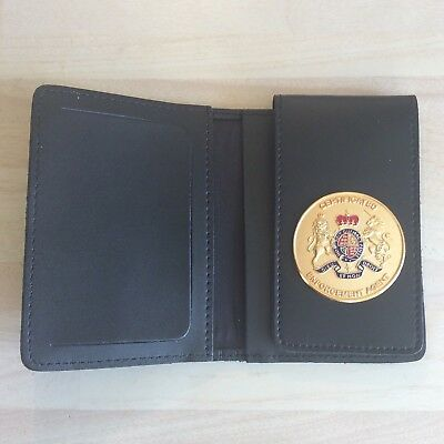 Leather Warrant Card Wallet With Certificated Enforcement Agent Badge (# 1)