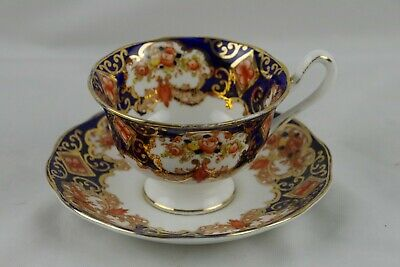 Royal Albert Derby Cup Saucer Gold Trim Cobalt Blue