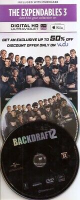 Backdraft 2 DVD + bonus expendables 3 DVD with digtal code
