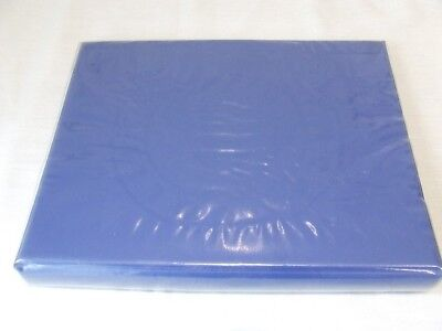 Collectors Blue Luxury Padded 4 Ring Stamp Album & Packs Covers Leaves, Vgc